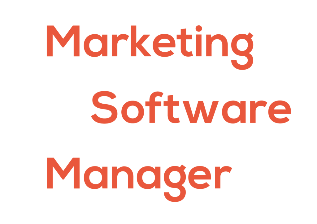 Marketing software manager logo